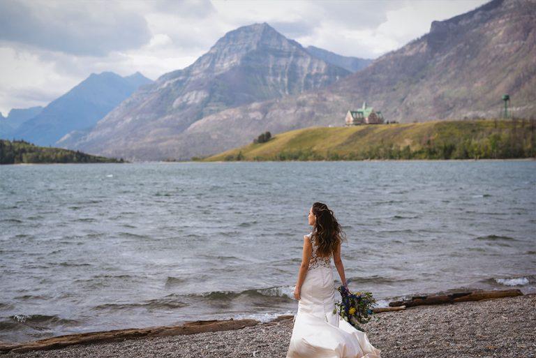 bayshore-waterton-wedding-lakefront-bride-outdoor